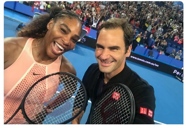 Roger Federer and serena williams smile