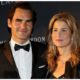 Roger Federer and wife in suit