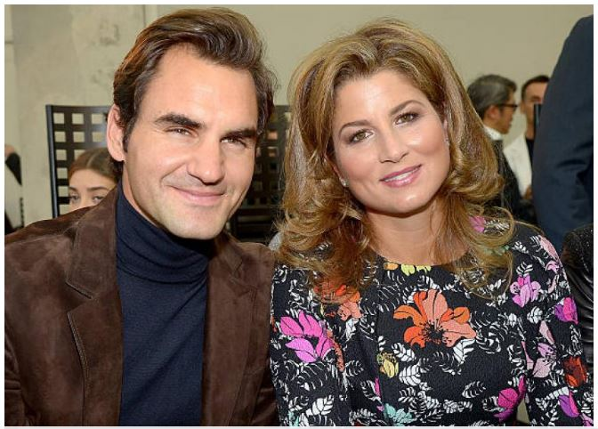 Roger Federer and wife smile