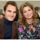 Roger Federer laugh with wife