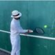 Roger Federer playing volley