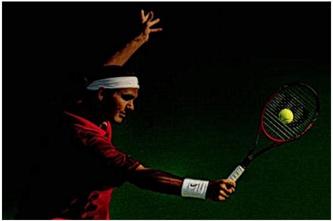 Roger Federer teenage