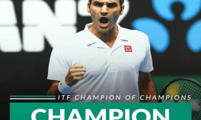 Roger Federer voted champion