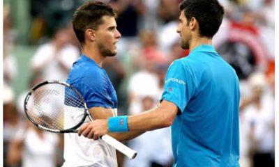 Novak Djokovic with Dominic Thiem