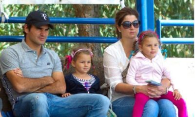 Roger and Mirka Federer and daughters
