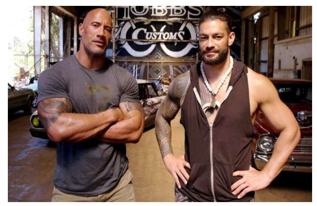 Roman Reigns and The Rock snap