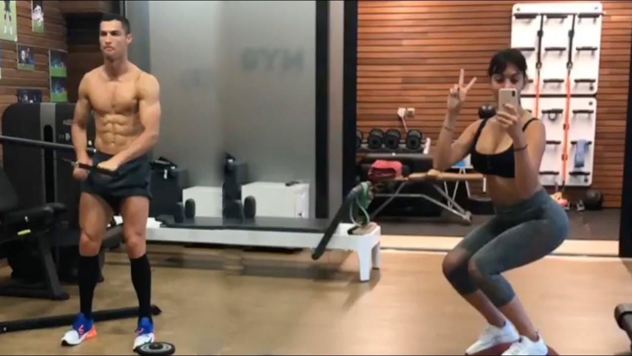 Ronaldo and wife train