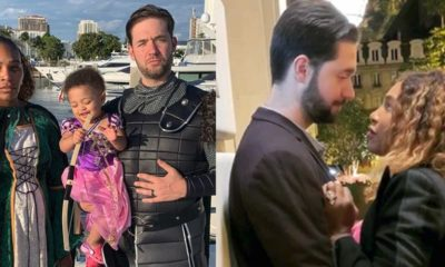 Serena Williams, Alexis Ohanian and Olympia