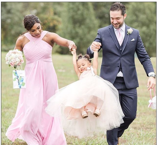 Serena Williams and Husband lif daugther