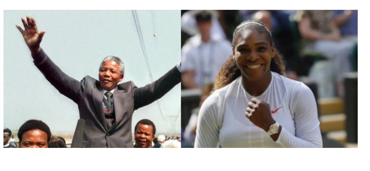 Serena Williams and Nelson Mandela