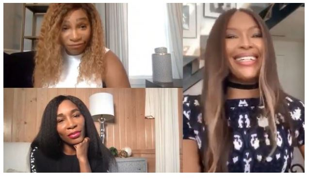 Serena Williams and sisters chat