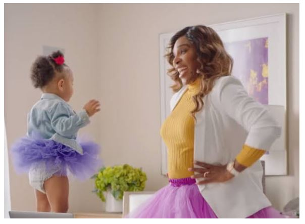 Serena Williams play with olympia