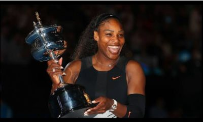 Serena Williams trophy