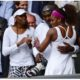 Serena Williams with father