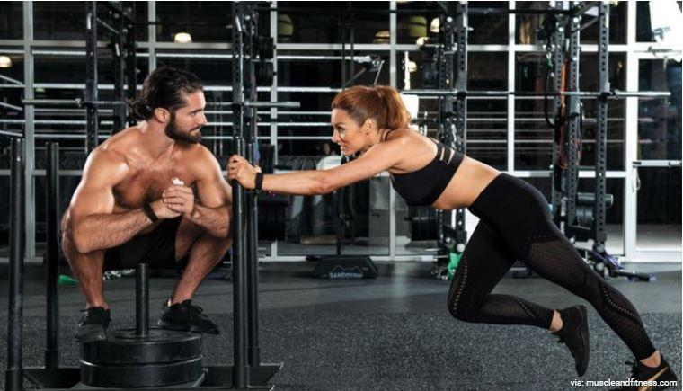 Seth Rollins and Becky lynch gym