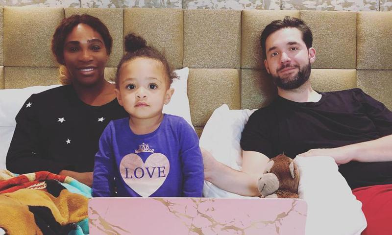 serena williams and family having fun