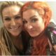 Becky Lynch with friend