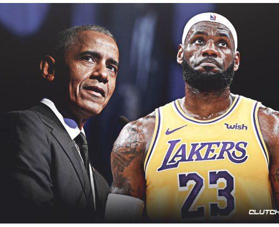 Lebron James and Barack Obama