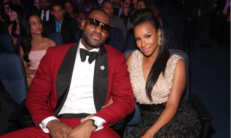 Lesbron James and wife