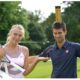 Maria Sharapova and Novak Djokovic snap