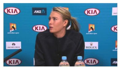 Maria Sharapova face side