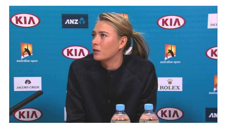 Maria Sharapova face side