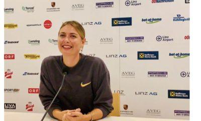 Maria Sharapova laughed