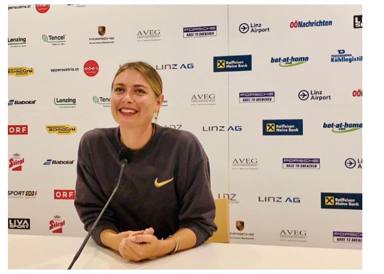 Maria Sharapova laughed