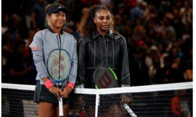 Naomi Osaka with Serena Williams