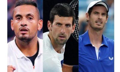 Novak Djokovic, Andy Murray and Nick
