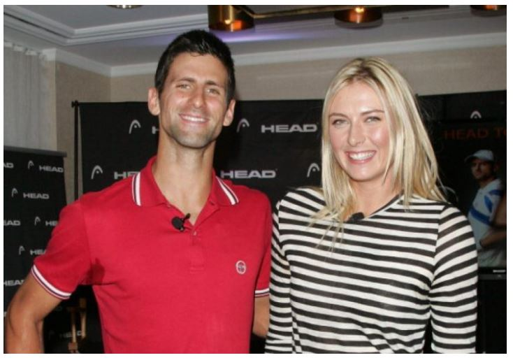 Novak Djokovic and Maria sharapova snap
