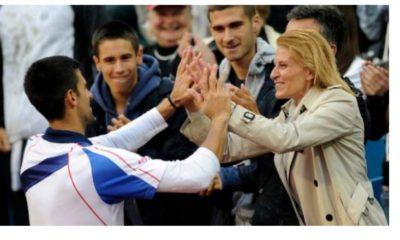 Novak Djokovic and mother