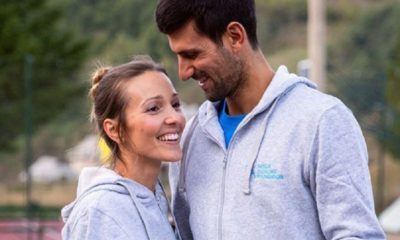 Novak Djokovic and wife walk