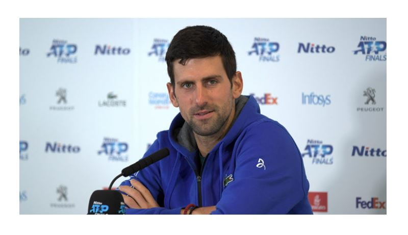 Novak Djokovic look straight