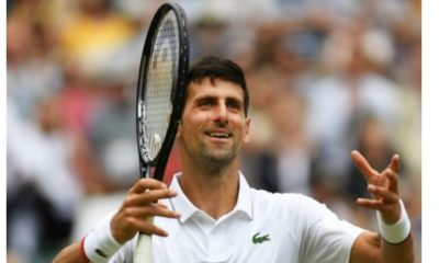 Novak Djokovic open hands