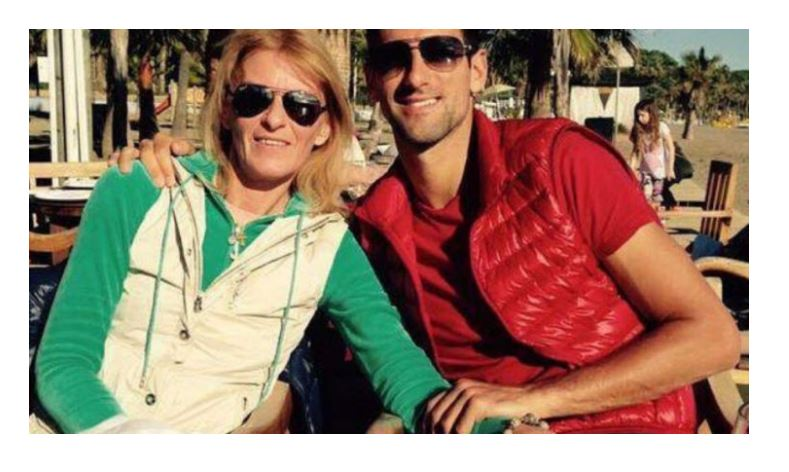 Novak Djokovic with Mum