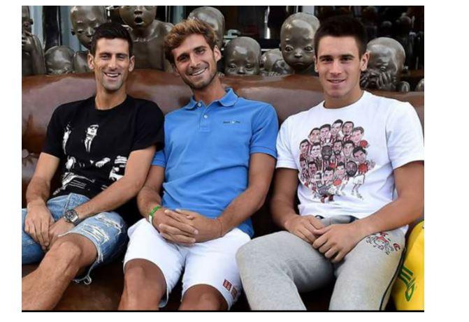 Novak Djokovic with brothers