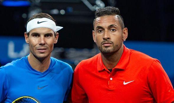 Rafael Nadal and Nick shake