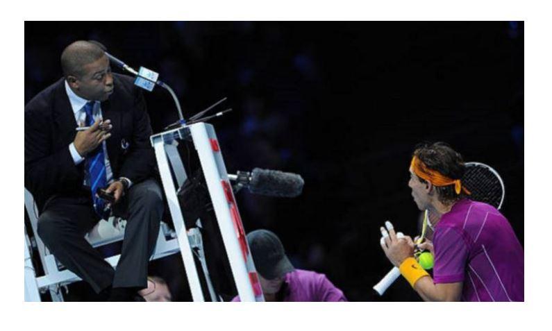 Rafael Nadal and Umpire