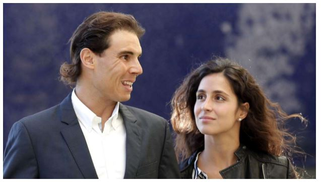 Rafael Nadal and wife smiles
