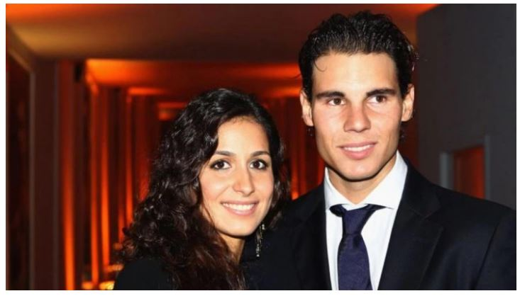 Rafael Nadal and wife smiling
