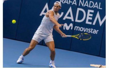 Rafael Nadal play at academy
