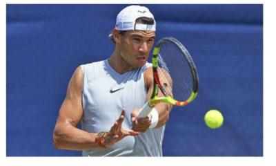 Rafael Nadal play ball
