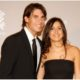 Rafael Nadal with wife smile