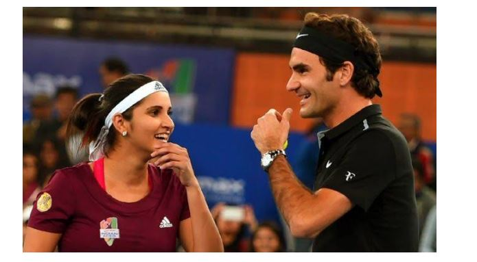 Roger Federer and Sania