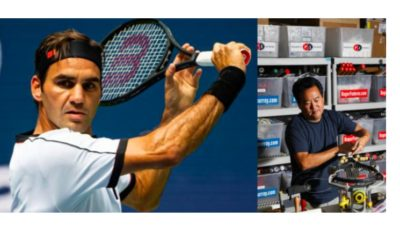 Roger Federer and Ron Yu
