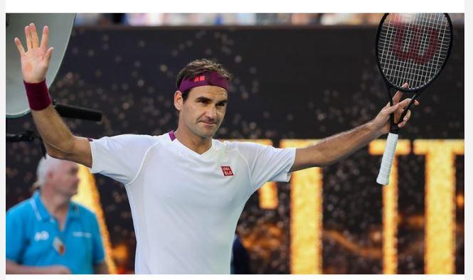 Roger Federer greeting fans