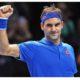Roger Federer hold fist