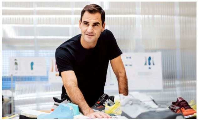 Roger Federer with shoes