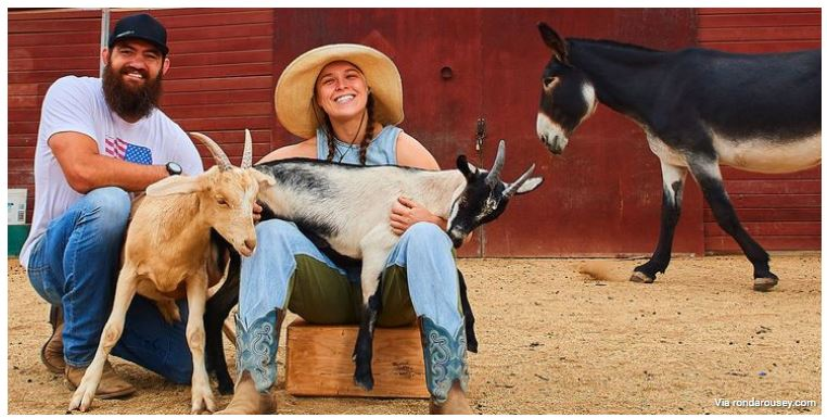 Ronda rousey with goat